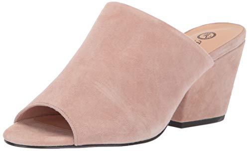Bella Vita Women's Kathy Mule Sandal Shoe, Blush Kidsuede Leather, 7 2W US