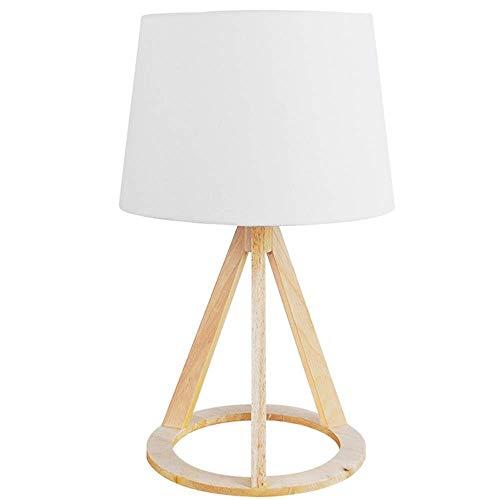 Lámpara Escritorio Lámpara de escritorio lámpara de noche lámpara de noche lámpara de mesa de madera lino moderno madera sólido led lámpara de mesa sala de estar dormitorio decoración escritorio lámpa