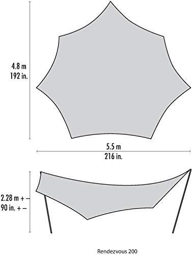 MSRアウトドアタープランデブーサンシールド120ウィング(2~4人用)登山【日本正規品】37014
