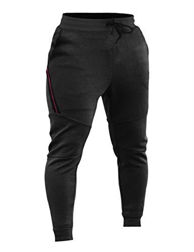 TESSUTO: pantaloni jogger da allenamento realizzati in pesante 65% cotone, 30% poliestere, 5% spandex, per resistenza, flessibilità, morbidezza, tenuta della forma e mantenimento in caldo in inverno e in autunno. DESIGN: elegante, aderente, gambe aff...