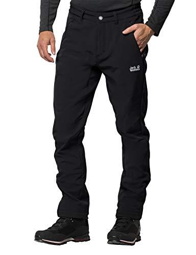 Jack Wolfskin Zenon Softshell Pantalon Homme, Black, FR : XL (Taille Fabricant : 27)