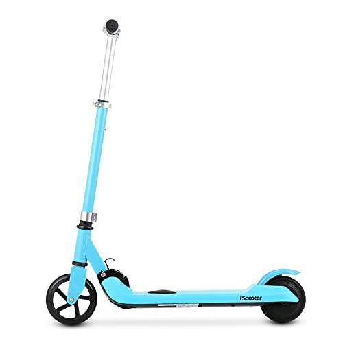 iK1 Mini Scooter eléctrico para niños, fácil plegable E-Scooter, ruedas de altura ajustables de 5 pulgadas para niños y niñas de 6 a 14 años