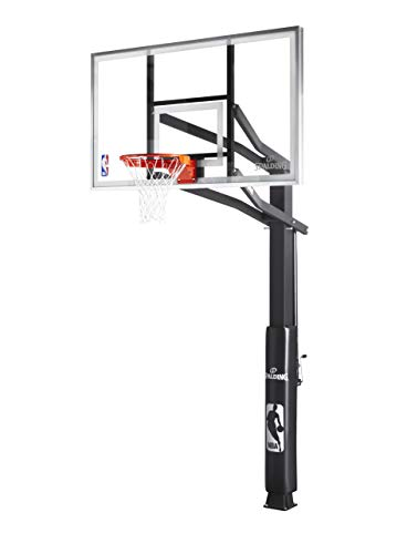 Spalding 72-Inch In-Ground Basketball System with Glass Backboard