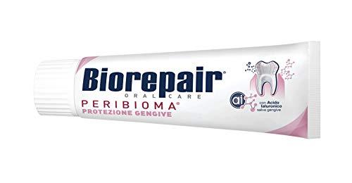 Biorepair, Dentifricio Protezione Gengive, per Gengive Sane, Antibatterico, Antiplacca, con Acido Ialuronico,...