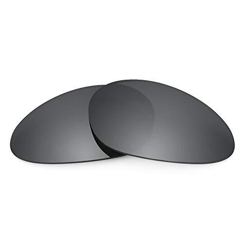 Revant Verres de Rechange Compatibles avec Oakley Minute 1.0, Polarisés, Chrome Noir MirrorShield