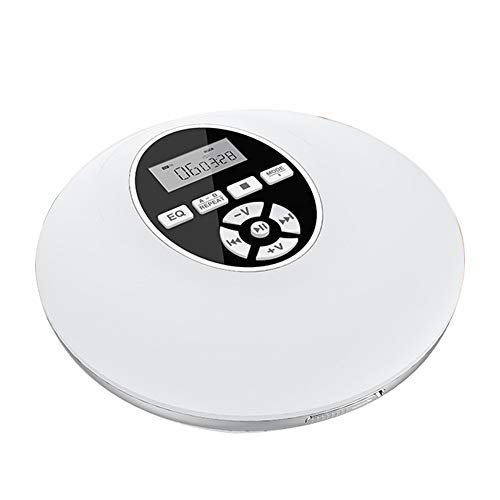 Guer Reproductor de CD portátil, Compacto Reproductor de música Walkman Small Anti-Skip con Auriculares, con Bluetooth o sin Bluetooth