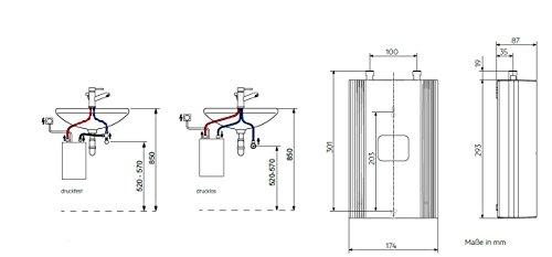 AEG elektronischer Durchlauferhitzer DDLE Kompakt 11/13 für die Küche, umschaltbar 11/13,5 kW, 230768 - 6