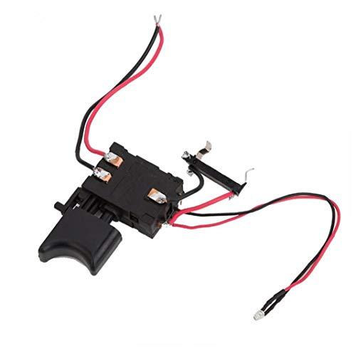 IUwnHceE Control de Velocidad Interruptor eléctrico Taladro 12V FA2-16 / 1WEK batería de Litio sin Cable Interruptor de perforación para Taladro eléctrico Negro utilizados en el hogar de la fábrica