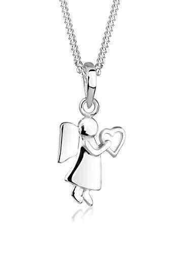 Elli Halskette Damen Engel Herz Talisman in 925 Sterling Silber