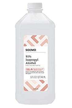 Amazon Brand - Solimo 91% Isopropyl Alcohol First Aid Antiseptic 32 Fl Oz  Pack of 1