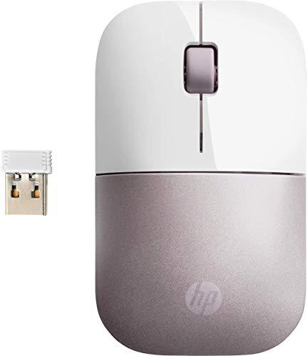 HP Z3700 - Souris Sans Fil Blanc/Rose (USB, 1200 DPI, Ambidextre)