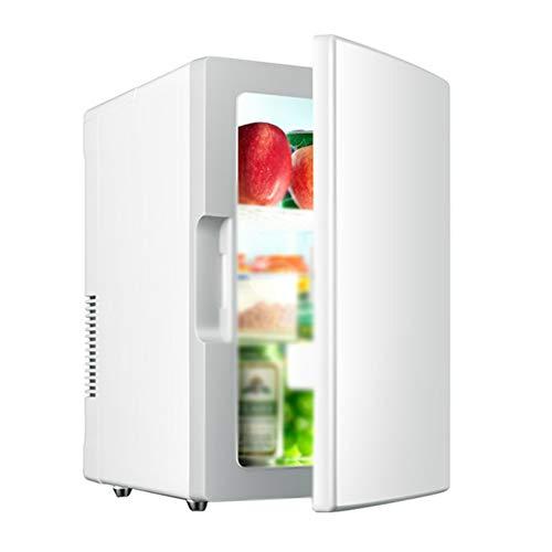 LQIQI Mini Frigorifero per camere da Letto Auto silenziosa Portatile Bianco Carino Mini frigo Esterno Coca Cola Mini frigo