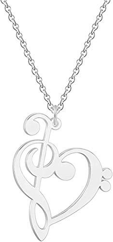 MGBDXG Co.,Ltd Collar de Acero Inoxidable joyería Deportiva Figura Collares de Yoga Bailarina Correr bailarinagold Collar de Mujer Regalo de cumpleaños Femenino