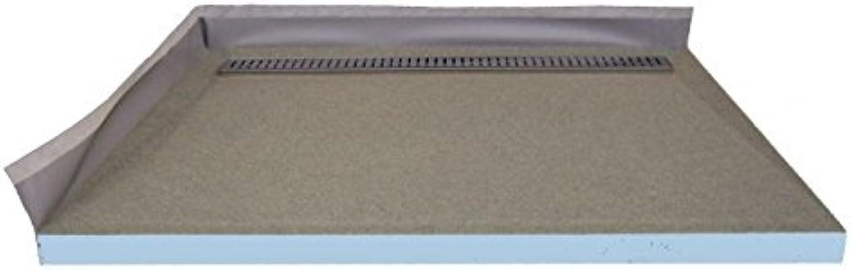 Befliesbares Duschelement 150x90 cm mit Edelstahlrinne 80 cm - komplett