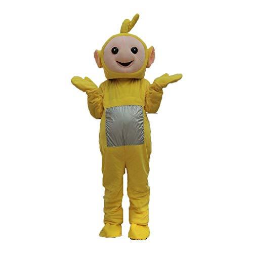 WANGNINGCHAO Personalidad de Navidad para adultos, Lindo Teletubbies, disfraz de mascota de varios colores, disfraz festivo, cosplay de Halloween y Navidad (color: amarillo, tamaño: M)