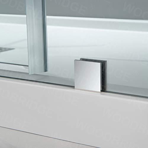 WOODBRIDGE MBSDC6062-C Frameless Sliding Glass Tub Door | 56