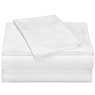 Cok 3 Piece Bed Sheet Set- Soft Microfiber Bedding Set with Deep Pocket, Breathable, Wrinkle and Fade Resistant - 1 Fitted Sheet, 1 Bed Sheet and 1 Pillowcase.