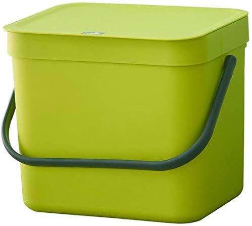 Trash binnenwand Transport bin Plastic Design Rechthoekige prullenbak Keuken Badkamer vuilnisbak met deksel 7L (Kleur: Blauw)