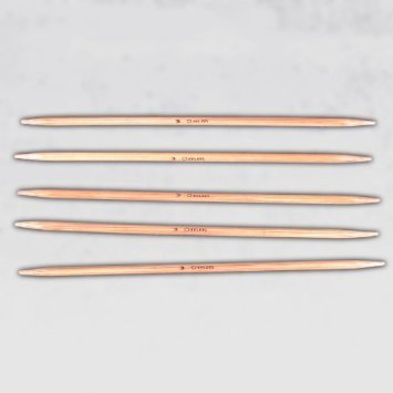 Click Down 13cm Double Pointed Carbonized Bamboo Knitting Kits Needles Set (2.0mm - 5.0mm)- 5 Sets of 11 by Click Down