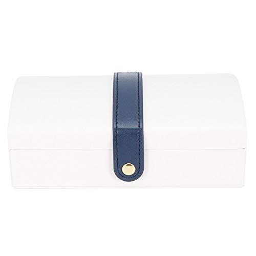 Viccilley Joyero - Portátil de Viaje de Cuero PU Joyero de múltiples Capas Pendientes Anillos Collar Estuche de Almacenamiento Organizador(Blanco)