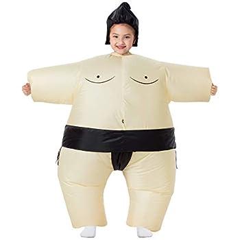 YEAHBEER Inflatable Costume Sumo Blow Up Costume Halloween Cosplay Costumes  Kids Sumo