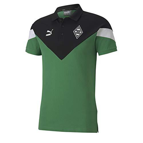 PUMA Herren BMG Iconic MCS Polo Poloshirt, Amazon Green, S