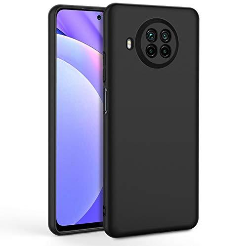 EasyAcc Hülle Hülle Kompatibel mit Xiaomi Mi 10T Lite 5G, Schwarz TPU Handyhülle Matte Oberfläche Handyhülle Schutzhülle Schmaler Handyschutz Kompatibel mit Das Xiaomi Mi 10T Lite 5G