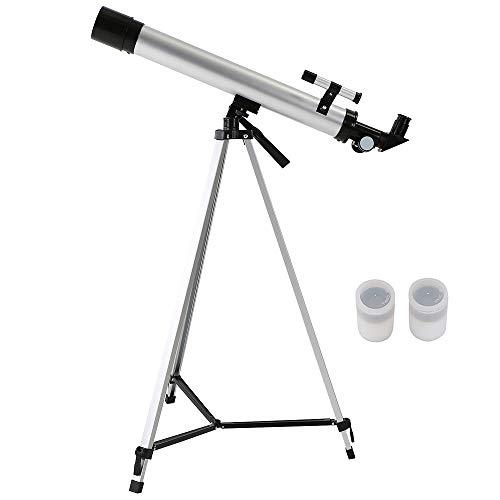 Zitainn Telescopio de Zoom 100X para Exteriores 600x50mm Espacio refractivo Telescopio astronómico Monocular Travel Scting Scope con...