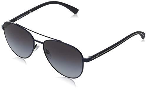 Emporio Armani 0EA2079 Gafas de sol, Matte Blue, 58 para Hombre