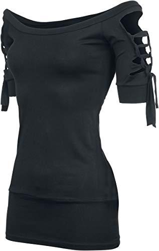 Outer Vision Kork Frauen T-Shirt schwarz XXL 95% Viskose, 5% Elasthan Everyday Goth,...
