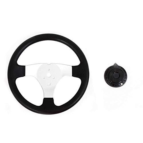 Lenkrad für Go-Kart, 270 mm, 3 Speichen, geeignet für 150-250cc-Motoren, Nicht Null, Schwarz, Free Size