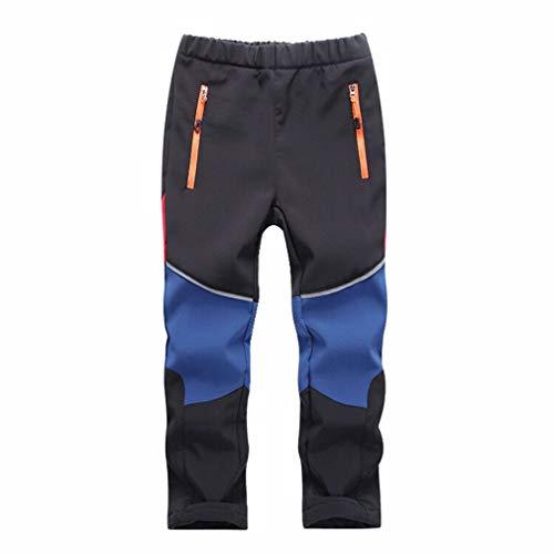 wetry Pantalones de Invierno para Niños, Pantalon de Trekking Impermeables Forro Polar...