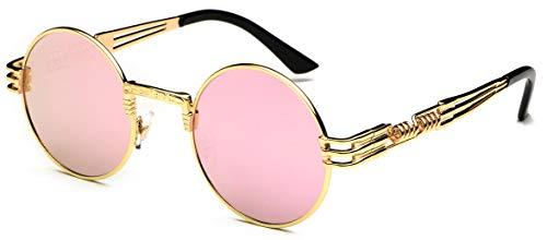 J&L Glasses Retro Gafas Para Hombres Mujeres Lente Negro Gafas, Gafas de Sol Unisex Adulto, Steampunk