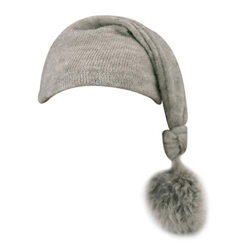 Asudaro Sombrero para fotografía de bebé, para bebés de 0 a 3 meses, color gris