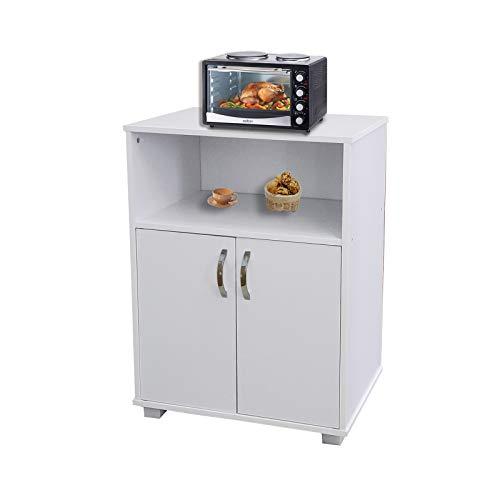 HTI-Line Küchenschrank Blanca Küchenregal Küchenmöbel Mikrowellenschrank Aufbewahrungsschrank Mehrzweckschrank