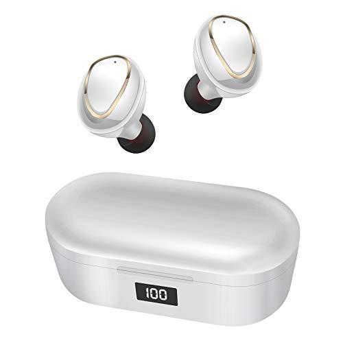 Cascos Inalambricos Auriculares Bluetooth Deportivos - TWS Cascos In-Ear IPX7 Impermeable auriculares inalambricos deporte,Pantalla LED,Control Tactil,CancelacióN De Ruido 【2021 Versión Mejorada】