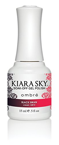 Kiara Sky's Mood Changing Gel Polish - Ombre (Black Swan #812)