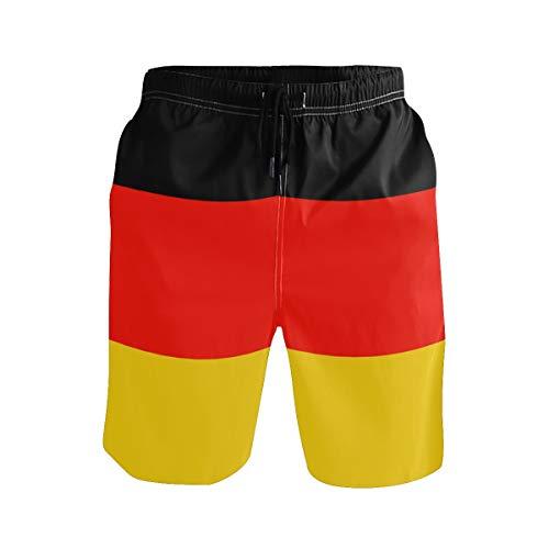 BONIPE Herren Badehose Deutschland Flagge schnell trocknend Boardshorts mit Kordelzug und Taschen Gr. XL, mehrfarbig