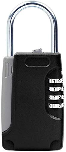 DSJMUY Metall Key Lock Box Schlüsselkasten Passwortsperre Vorhängeschloss Mini Home Decoration Company Bürogebrauch,Orange