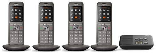 Gigaset CL660A (V 2.0) QUATTRO, analoges Telefon-Set inkl. 4 Mobilteilen und Anrufbeantworter