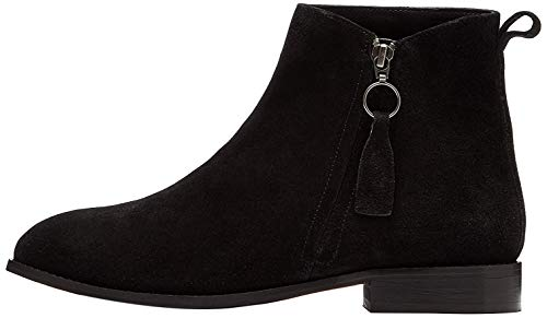 find. Zip Leather Botines, Negro Black, 39 EU