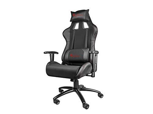 Genesis Chaise Gaming Nitro 550 Noire, Piel, Negro