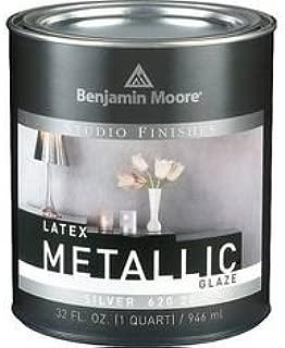 Benjamin Moore Gal Silver Metallic Latex Glaze