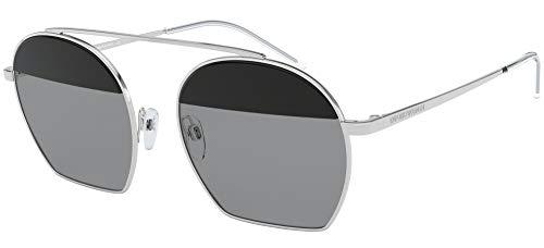 Emporio Armani 0EA2086 Gafas de sol, Silver, 56 para Mujer