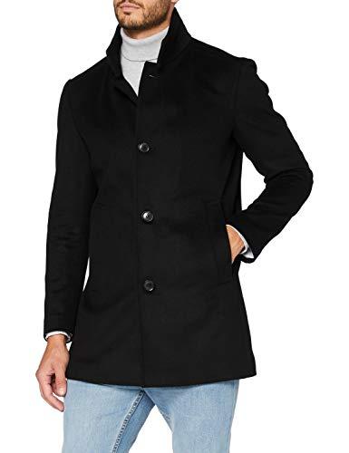 Strellson Premium Herren Finchley Wollmantel, Black 001, 46