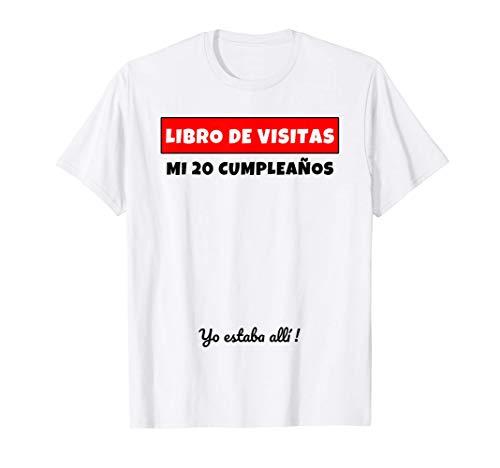20 Cumpleaños Libro De Visitas Libro De Visitas Regalo Camiseta