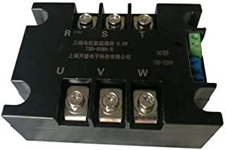 Lysee Three-phase motor soft starter module controller, motor soft starter under 20KW, soft starter - (Color: 20KW)