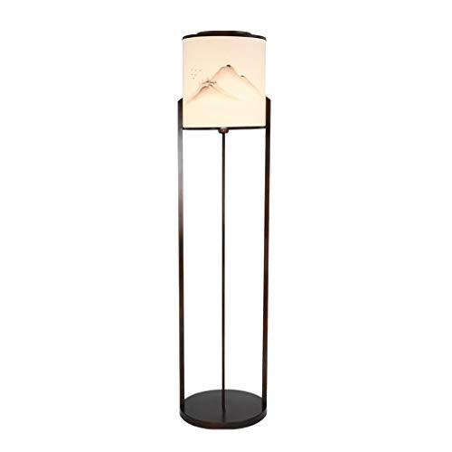 Staande lamp nieuwe Chinese vloerlamp Zen lamp moderne woonkamer werkkamer slaapkamer hoek bed verlichting vloerlicht met de hand beschilderd vloerlamp