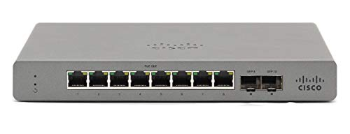 Cisco GS110-8P-HW-UK Meraki Go - 8 Port POE Switch - UK Pow