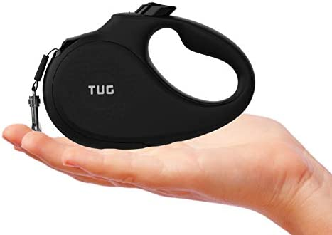 TUG 360 Tangle Free Tiny Retractable Leash for Small Dogs Cats Black product image